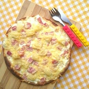 kinderrecept ananas ham pizza