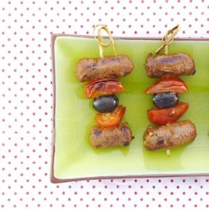 recept kind spiesje bbq barbecue worst olijf tomaat