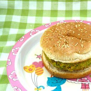recept kind burger vegetarisch