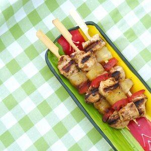 recept kind spiesje bbq barbecue kip