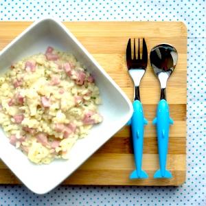 recept kind risotto bloemkool ham