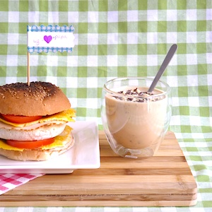 ontbijtburger koffiekwark recept kind