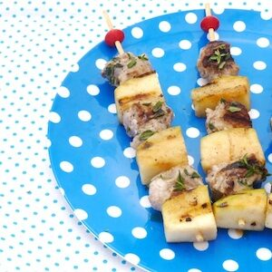 recept kind spiesje barbecue bbq varkensvlees appel